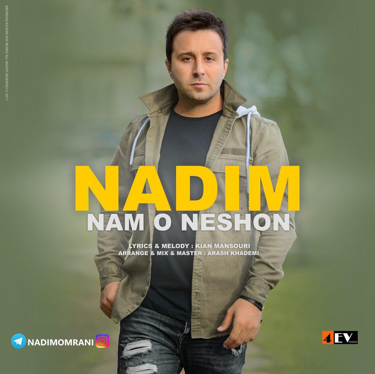 نامبر وان موزیک | دانلود آهنگ جدید Nadim-Nam-O-Neshon